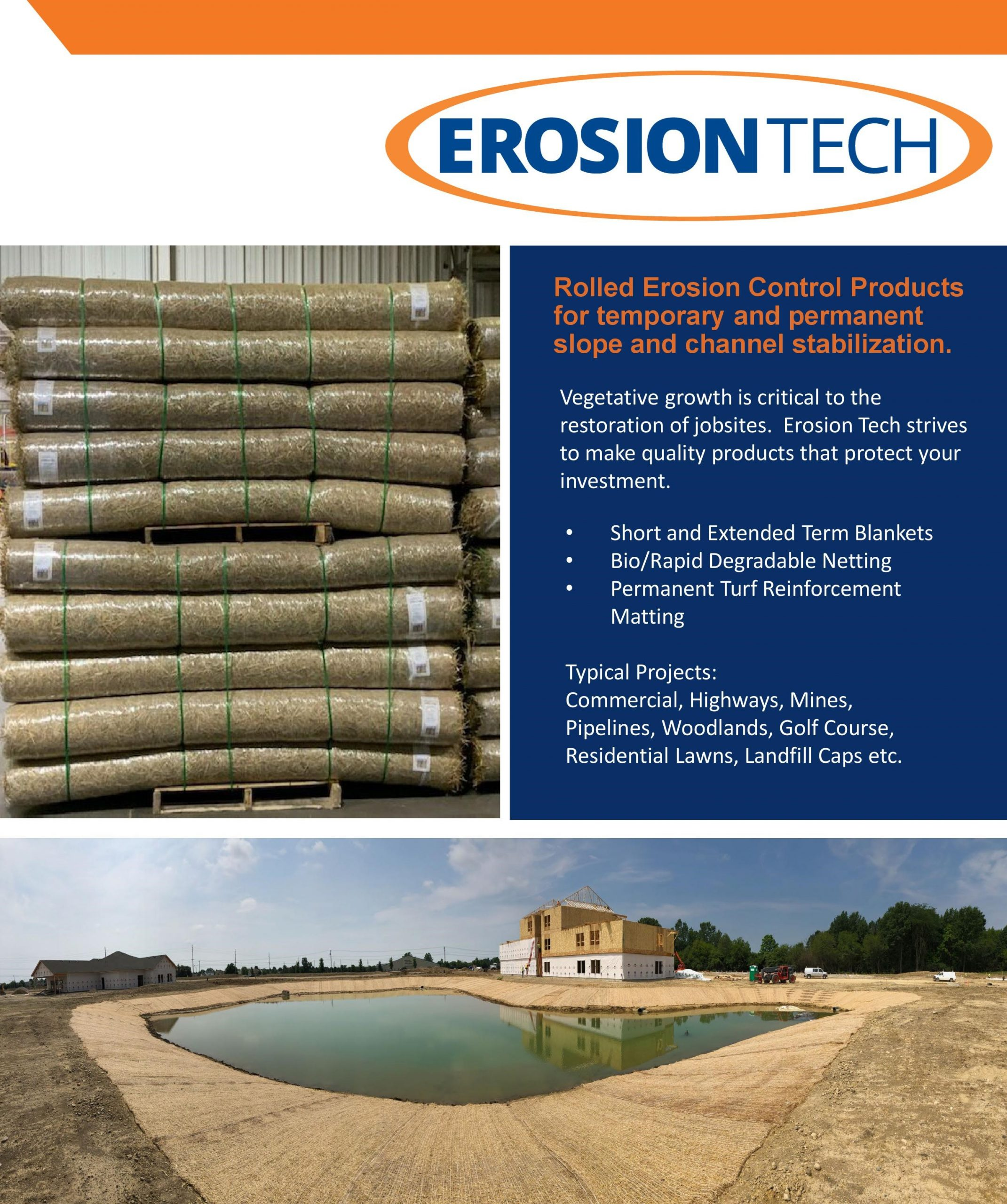 Starting in Spring of 2020, we will now be stocking erosion control blankets.